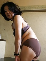 Japanese babe Junko Sakashita getting her pussy some attention.