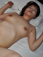 Cougar Japanese Chiho Fujii gets her pussy drilled and receives a creampie.