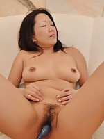 MILF Japanese Kumiko Katsura surrender her wet pussy for a hard cock to go in.