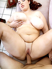 Hot plumper gives a tit fuck
