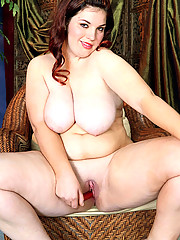 Voluptuous brunette with perky juggs