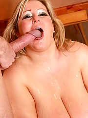 Sexy plumper Leah Jayne gets a massive rod of cock inside her deep juicy walls