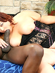 Big girl Brunette Trista is so furiously horny for a big throbbing cock inside her wet cunt she gets a mandingo cock to feel her pussy pleasuring hunger