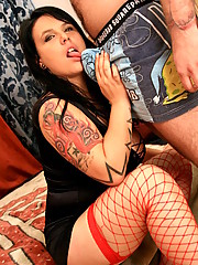 Big titty plumper brunette her mouth is watery for some throbbing cock down her throat