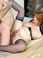 Amazon big titty plumper gets her first time of dick sucking and pussy fucking hardcore