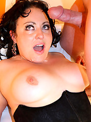 Sexy BBW Calista is ready for her first time plowing of her tight wet pussy on camera and she creams in joy