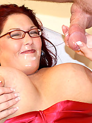 Plumper Veteran redhead Peaches is back! This time for some dick from Eric as he plows her sweet tight little pie to an oozing river of cum
