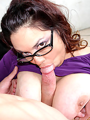 Rikki Waters spreads her legs to get her wet pussy pounded nice and hard