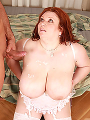 Today some lucky guy got to experience the exciting sex ride that is known as Annie Marie. She's known for her 42H breasts that are a really good place to stick some cock in between when Annie isn't sucking or fucking