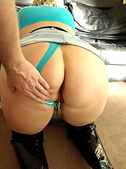 Milf hooker in thigh boots sucks dick for money