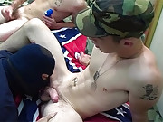 Army Man Fucking With A Civil