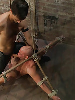 Master Avery in full leather uses and abuses studly boy next door Patrick Rouge