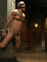 Drew Cutler gets tied up and flogged for the first time.