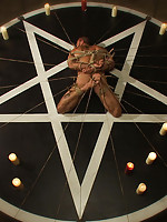Master Avery ties up Alessio Romero and gives him a sacrificial fuck on Halloween night.