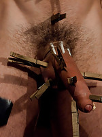 Tommy Defendi and Christian Wilde shower tied up DJ with loads hot cum during a live shoot.