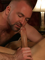 Josh West uses and abuses Adam Knox with his huge cock.