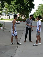Three Thai Gay Boys in The Badminton Big Cock