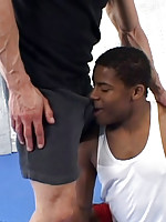 Young black athlete fucks his coach