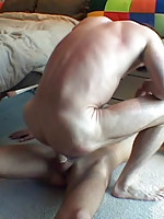 Big young meat in daddy�s asshole