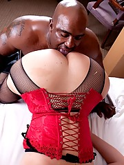 Naughty tgirl gets fucked by a black stud