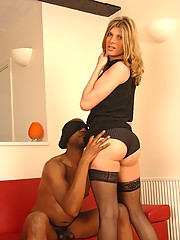 Horny Angelina gets her asshole fucked by black cock