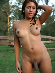 Cutie Carito Posing Fully Naked Outdoors