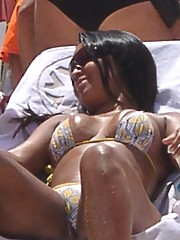 Nikki in Rio At The Beach Showing Her Cock