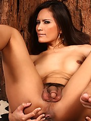 Exotical transsexual Angie showing you her enormous dick