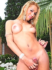 Paola Lima Shows Her Fat Cock Outdoors