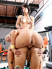 Melina, Morena & Carito Having Fun In The Gym