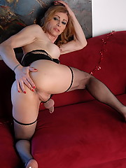 Hot TS MILF Jasmine Jewels posing her juicy fat penis