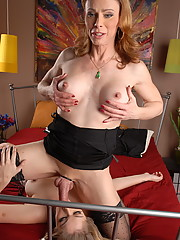 Transsexual MILF training her little slut