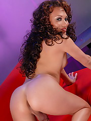 Glamorous Mia Isabella Stripping & Playing