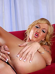 Sweet tgirl Olivia Love exposing her perfect body