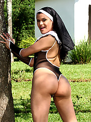 Confess your sins to tranny nun. To repent, she\