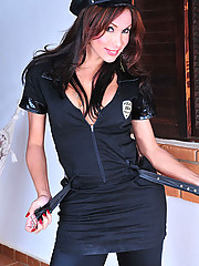 Ladyboy in Uniform