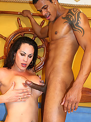 Brazilian tranny Rabeche Rayalla got to choose her partner for this scene. She chose Willian and as soon as he touched her and she moaned in pleasure, we knew she made the right choice.