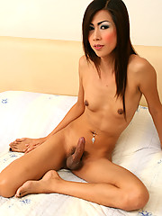 Tall slender beauty with rock hard cock.