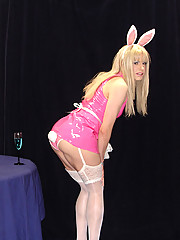 TV Candi wearing a sexy bunny outfit and teasing you