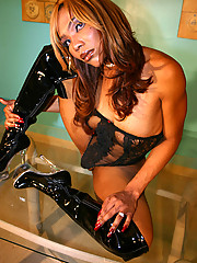 Naomi is an Ebony Shemale who Loves Latex!