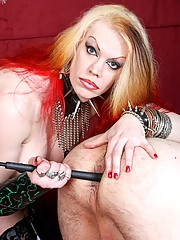 fully dominant shemale Tempest takes the pliers to her unwilling slave