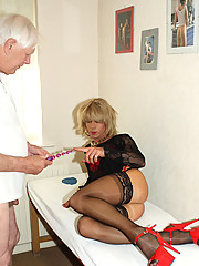 Kim goes to the doctors and gets a naughty examination