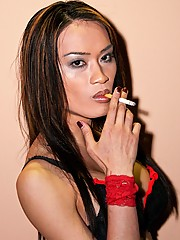 Looking as hot as ever holding the cigarette between her slender fingers, Mistress Jules knows how to seduce a man without even saying a word. She exhales deeply, blowing smoke in your face.