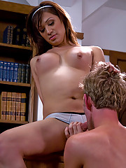 Deanna fucks Dean in the ass over the teachers desk