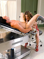 TS Kelly Shore the naughty nurse sucks and fucks her patient