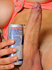 Huge throbbing hard shemale cock