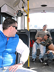 A bus ride really becomes something special when your getting head from a sexy shemale