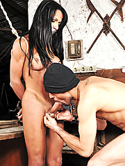 Tranny Nicolly Navarro forced to fulfill this guys fantasy