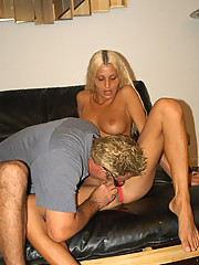 Tight blonde tranny surprise dude with her jewels