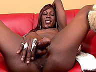 Black tgirl with the body of a goddess